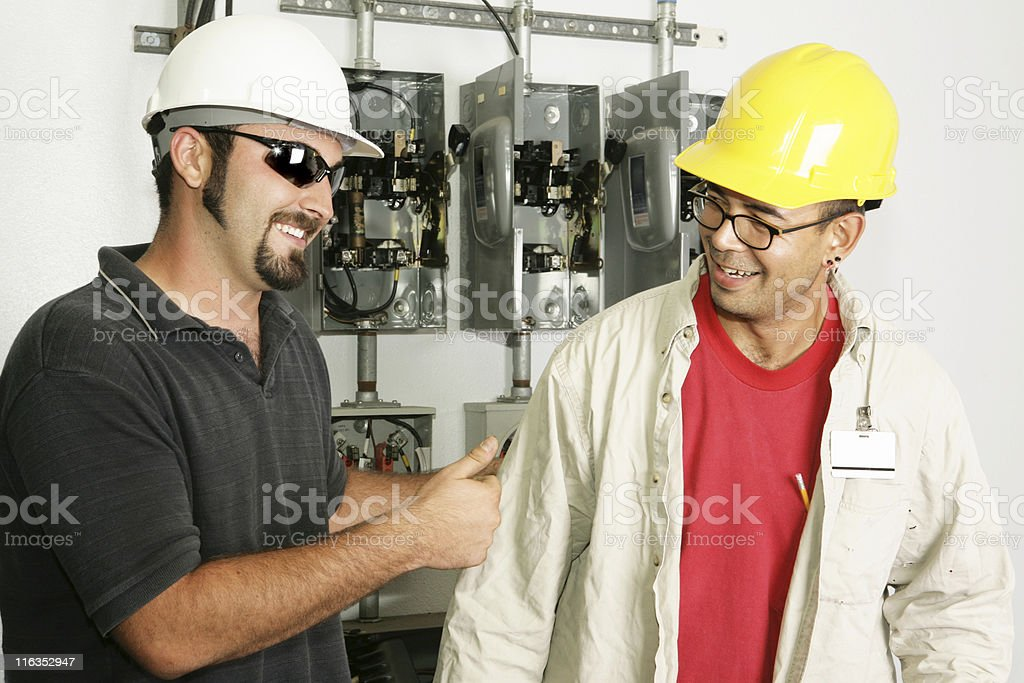 Electricians - Good Work royalty-free stock photo