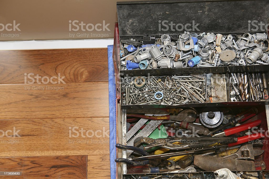 Electrician's Tool Box stock photo