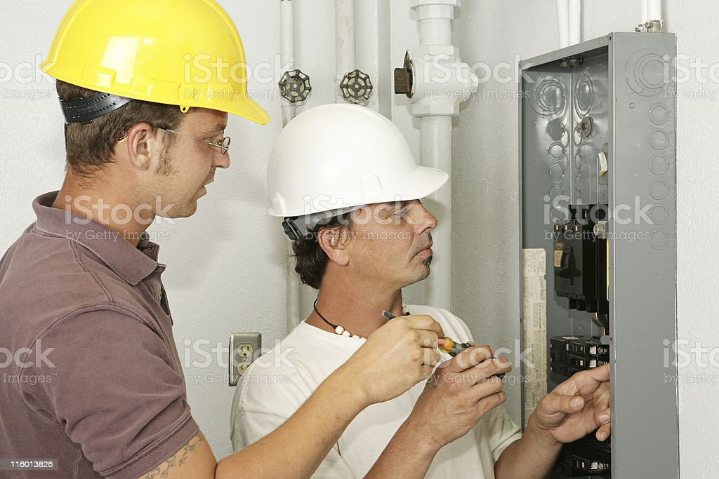 Electricians Wiring Panel royalty-free stock photo