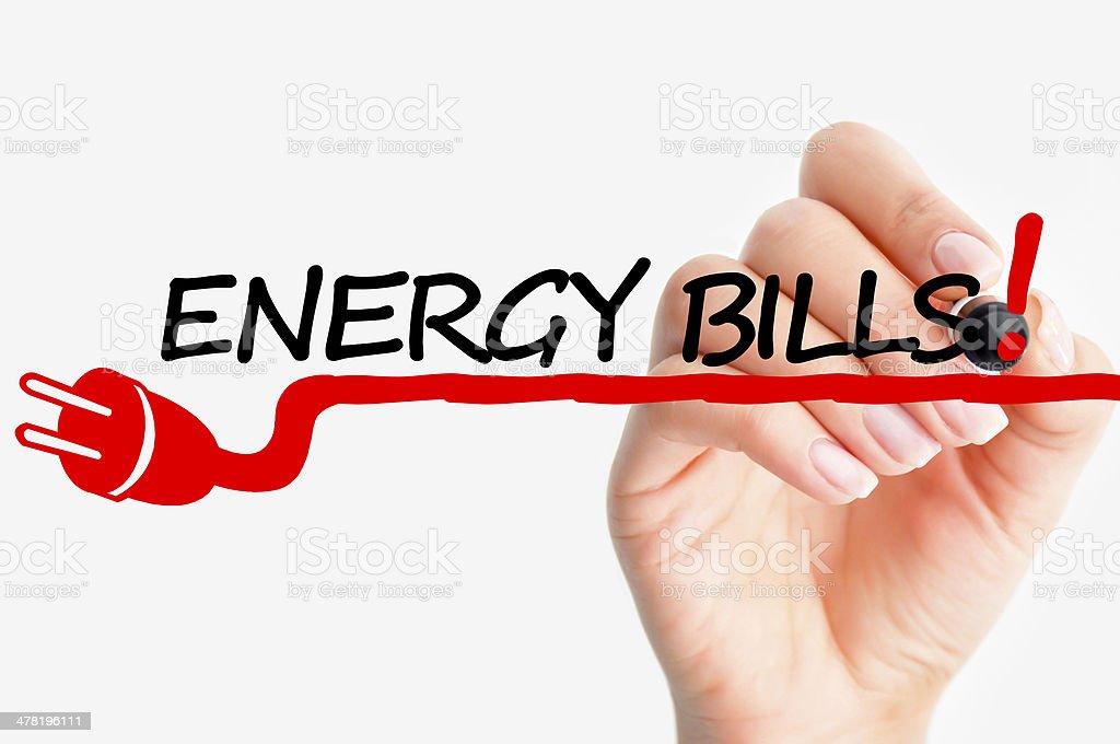Electricity bills stock photo