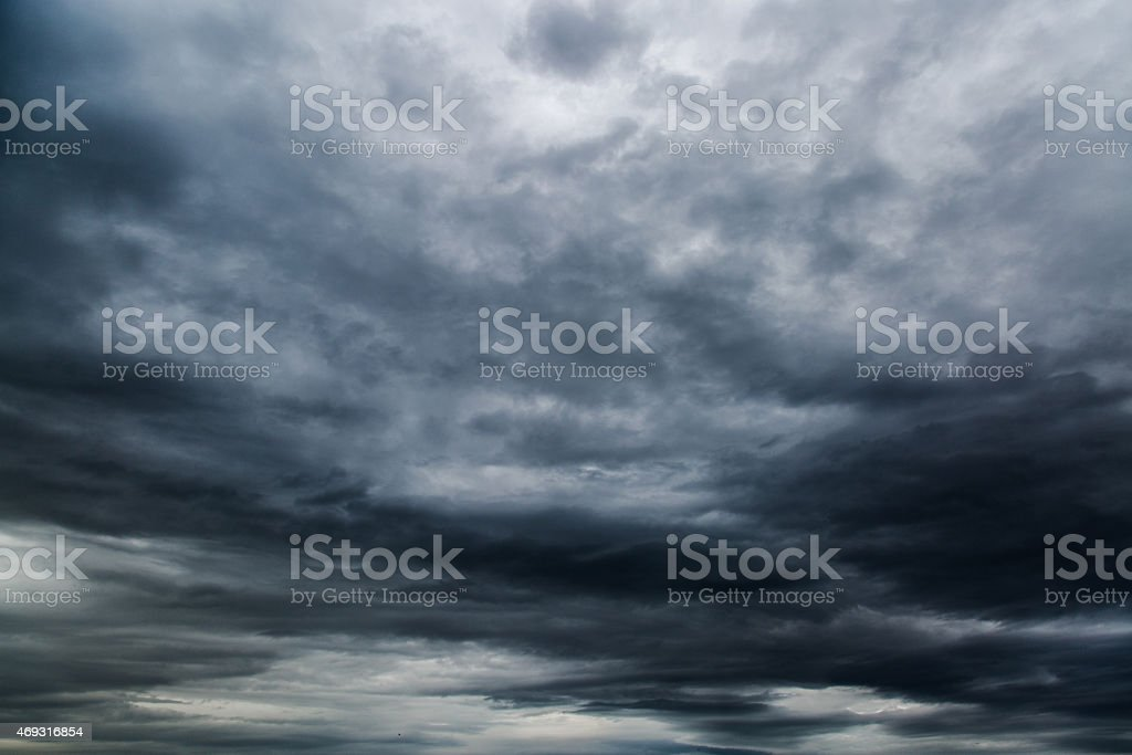 Strom cloud stock photo