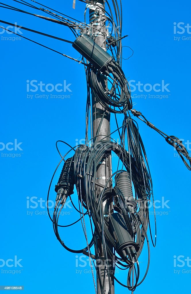 Electricity connections stock photo
