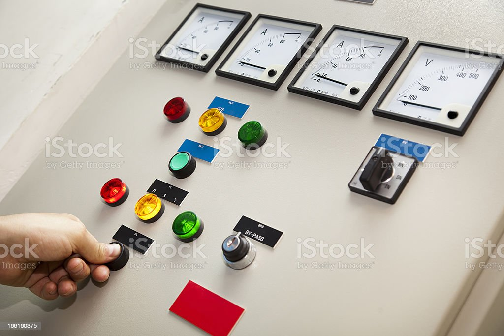 Electricity control and monitor center royalty-free stock photo