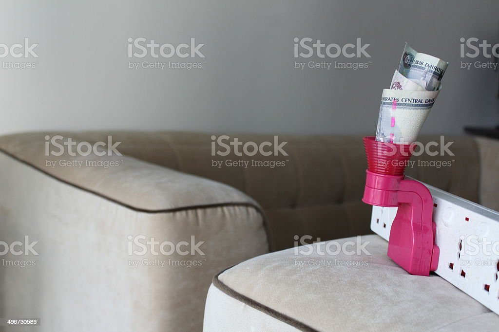 Electricity cost. stock photo