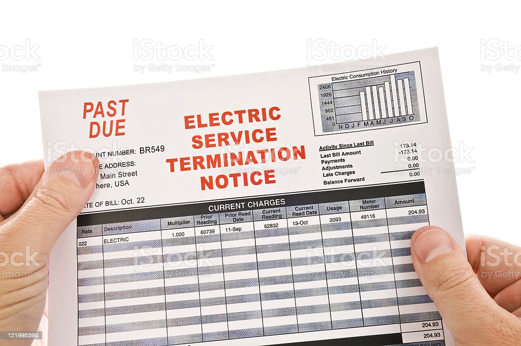 Electricity Cut-Off Warning royalty-free stock photo