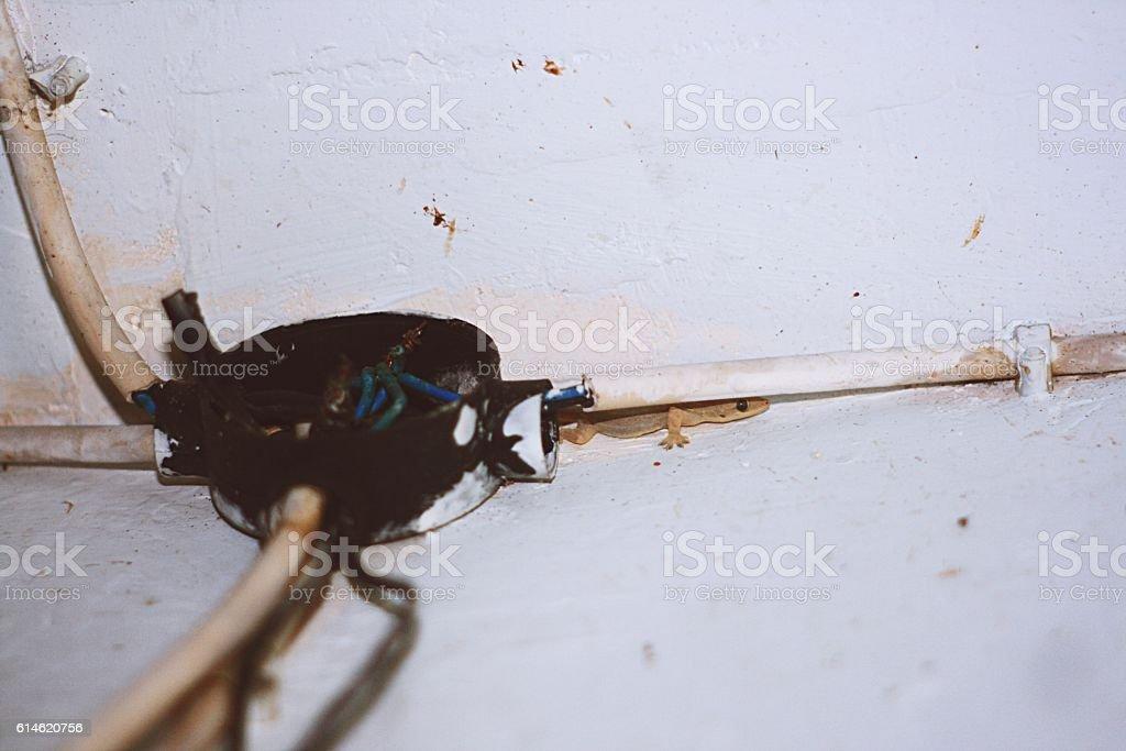 Electricity damage stock photo