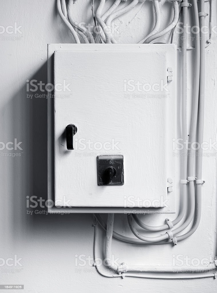 electricity distribution box with wires and circuit breakers picture id184911926?s=170667a electricity distribution box with wires and circuit breakers stock Fuse Box to Breaker Box at n-0.co