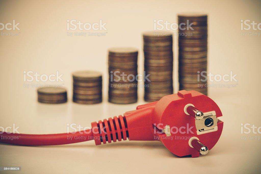 Electricity energy consumption stock photo