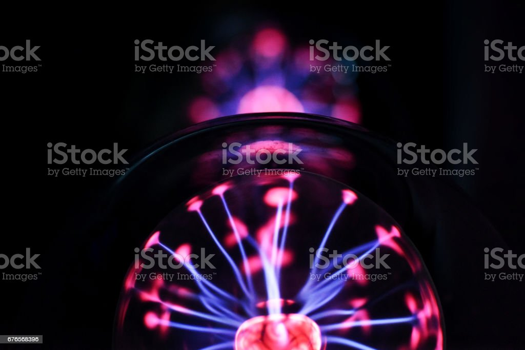 Electricity fire ball. stock photo