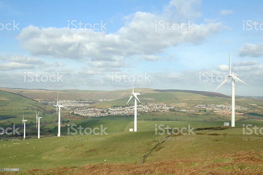 electricity for the town royalty-free stock photo