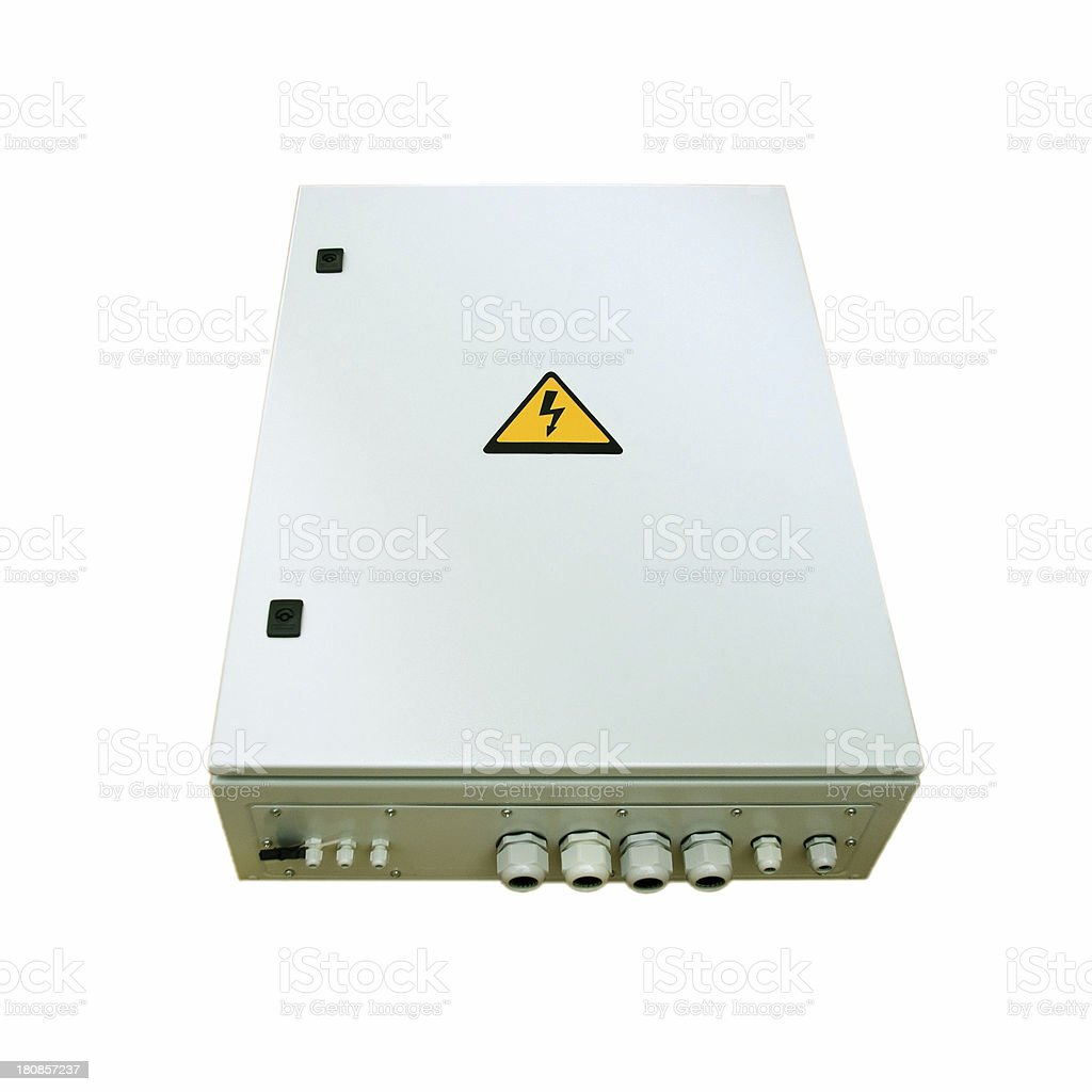 Electricity fuse box stock photo