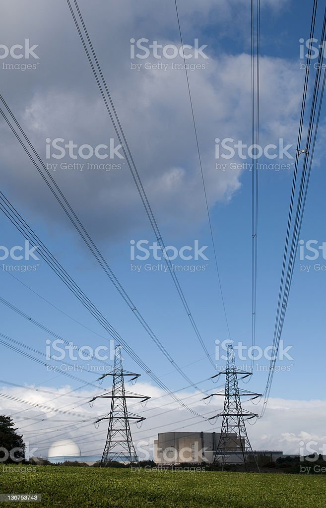 Electricity Generation Nuclear Power stock photo