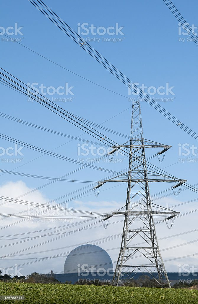 Electricity Generation Nuclear Power royalty-free stock photo