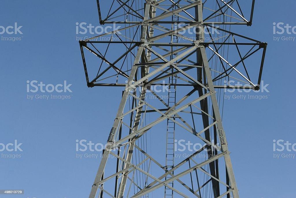 Electricity high voltage power pylon stock photo