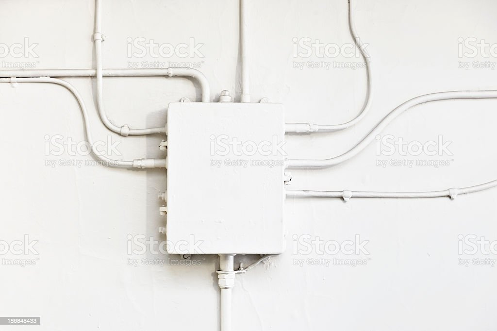 Electricity Junction Box stock photo