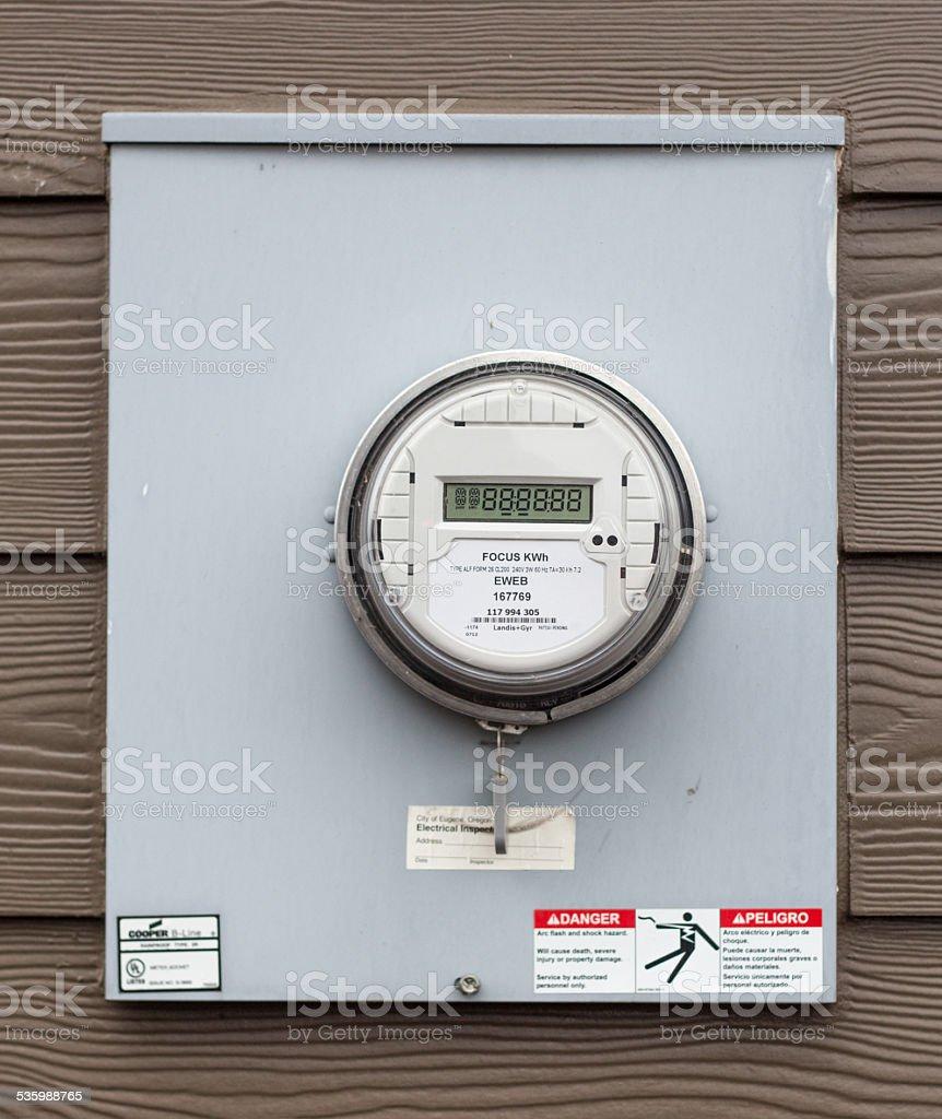 Electricity Meter Box stock photo