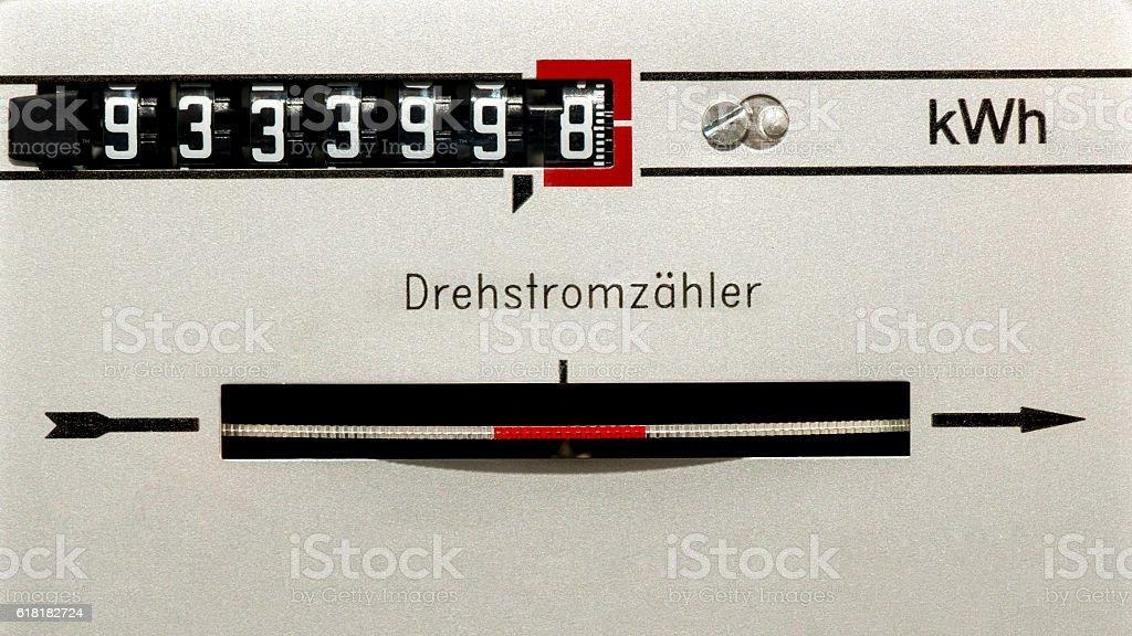 Electricity meter - Energy consumption stock photo