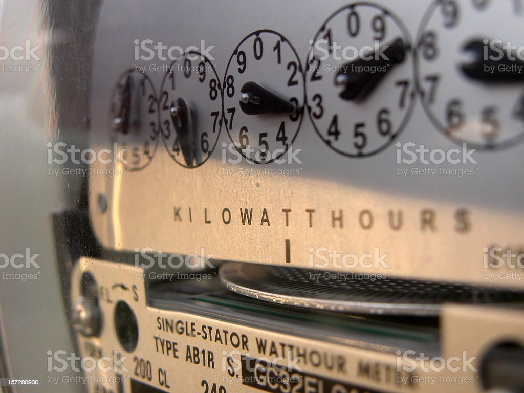 Electricity Meter royalty-free stock photo