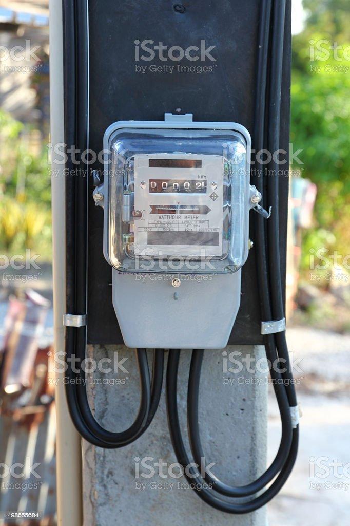 Electricity meter stock photo