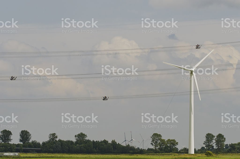Electricity network in Germany stock photo