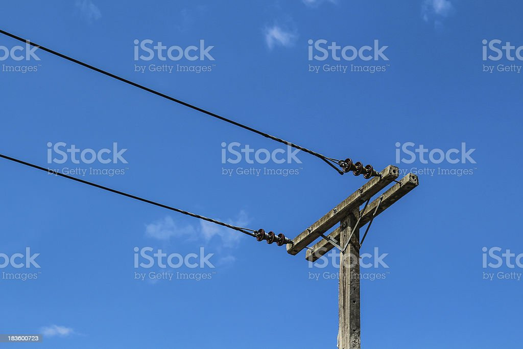 Electricity post in sky royalty-free stock photo
