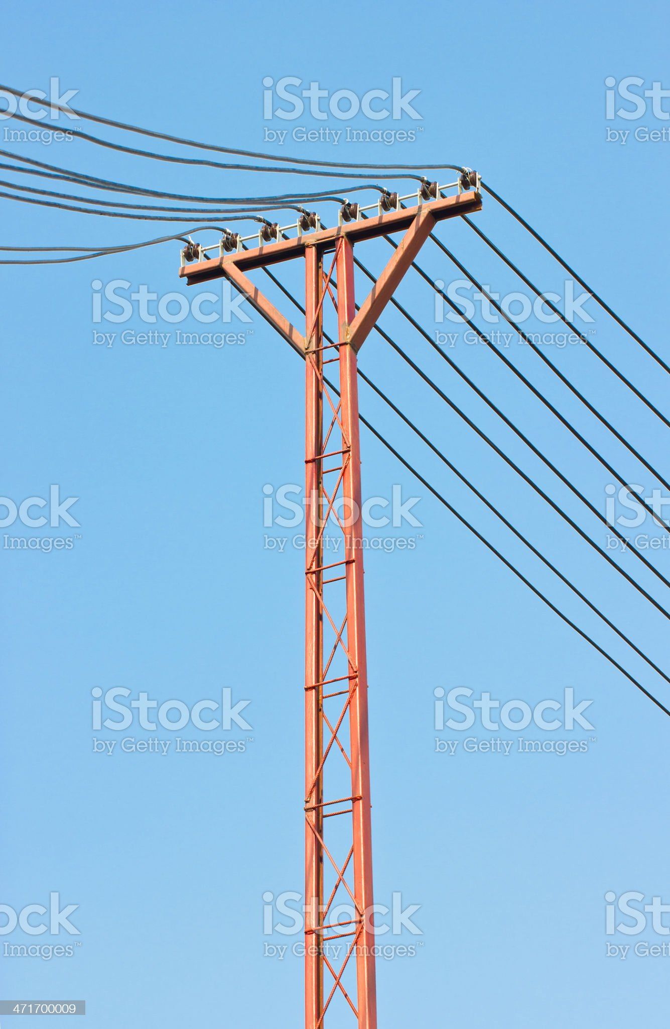 Electricity post in sky. royalty-free stock photo