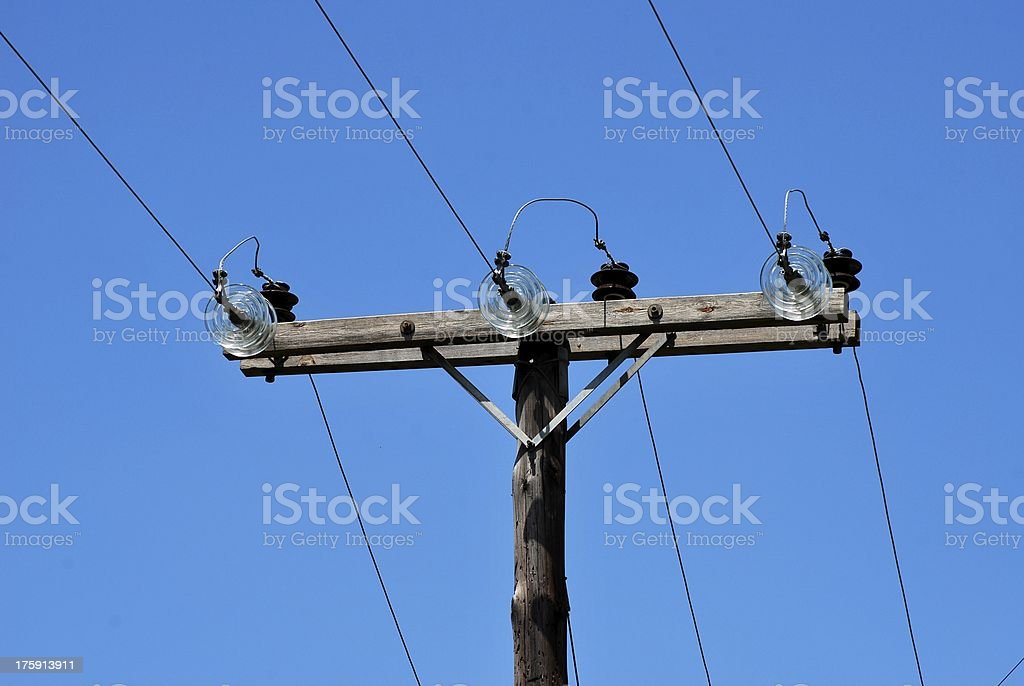 Electricity post royalty-free stock photo