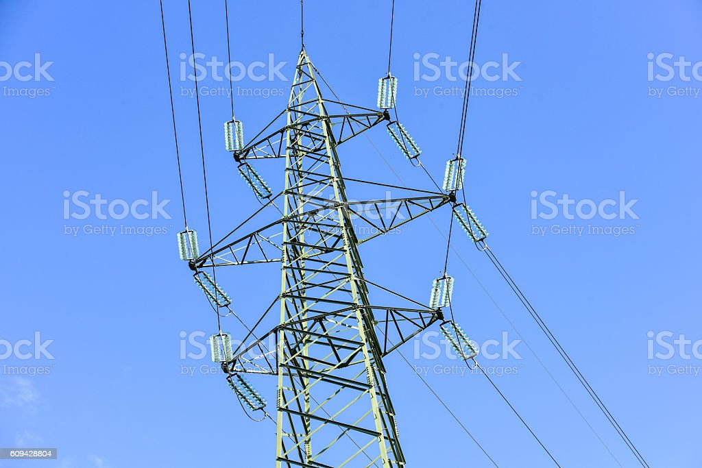 Electricity power line stock photo