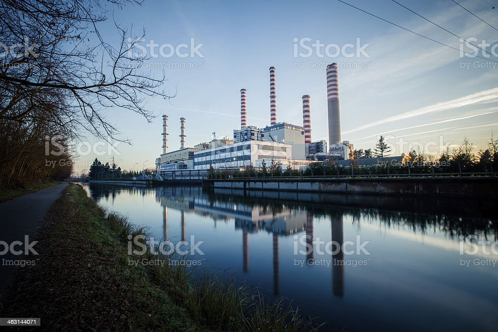 Electricity power plant stock photo