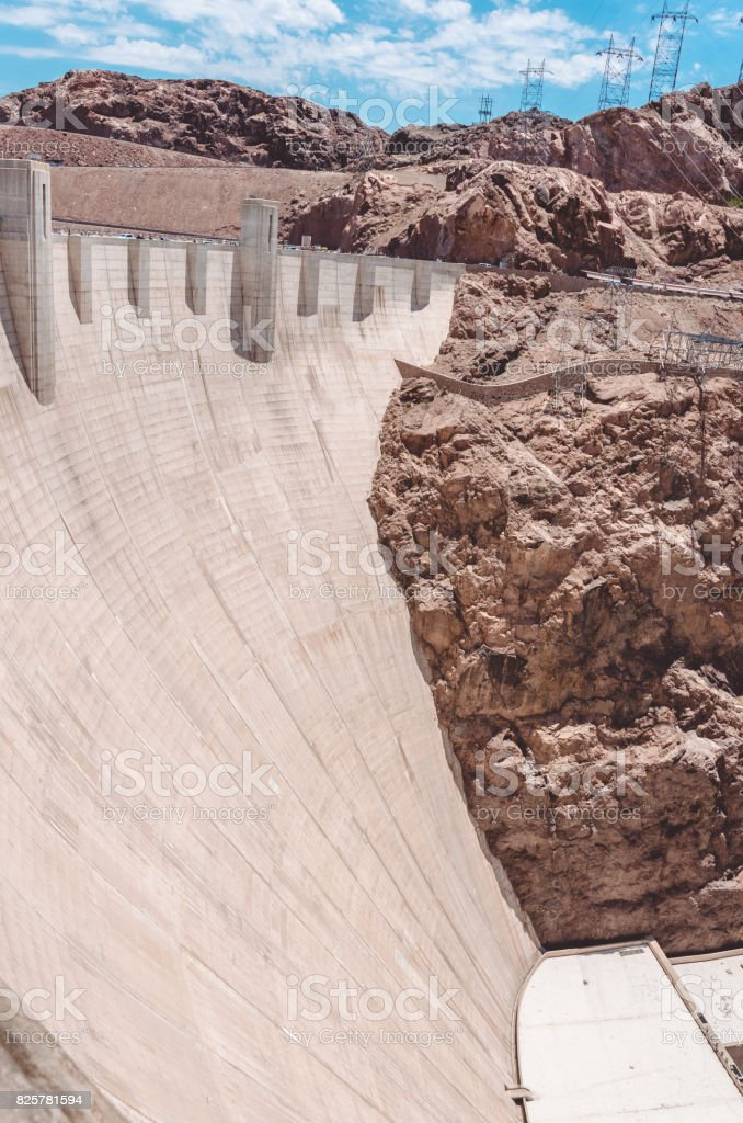 Electricity production in the USA. Hoover Dam on the Colorado River stock photo