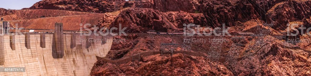 Electricity production in the USA. Power station in Arizona. Colorado River stock photo