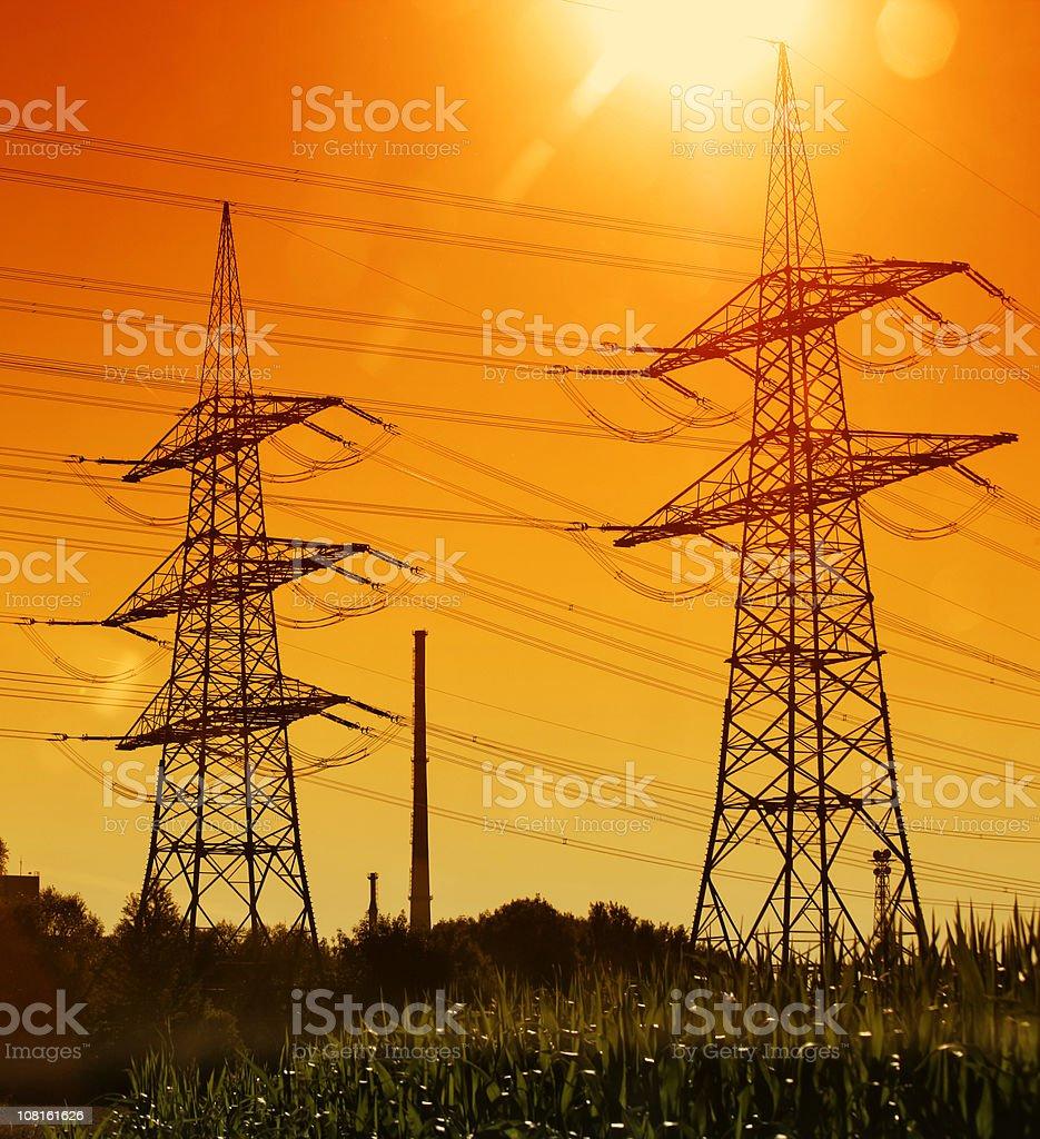 electricity pylon 01 royalty-free stock photo