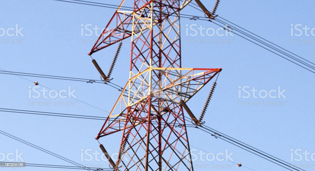 Electricity Pylon Closeup royalty-free stock photo