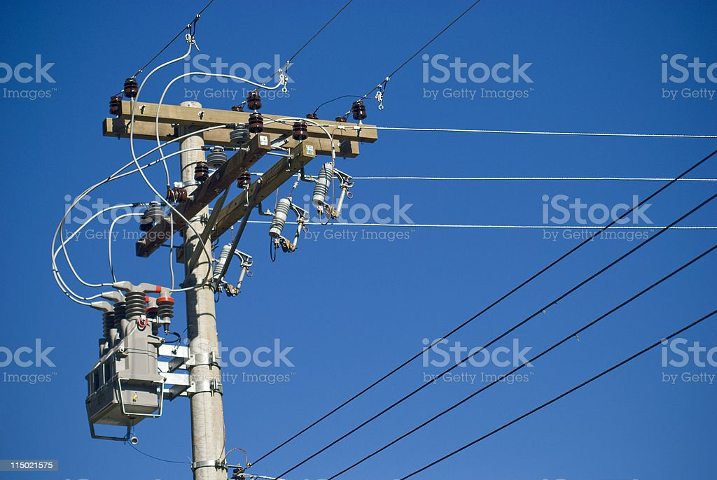 Electricity Pylon detail royalty-free stock photo