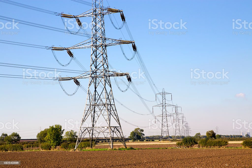 Electricity Pylon in countryside royalty-free stock photo