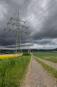 Electricity pylon in the field, Germany