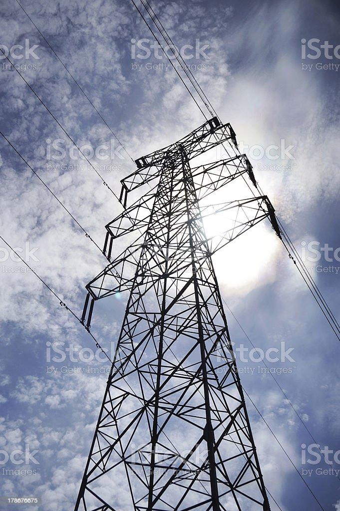 Electricity Pylon royalty-free stock photo