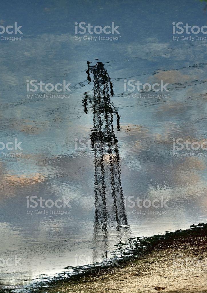 Electricity Pylon Reflection royalty-free stock photo