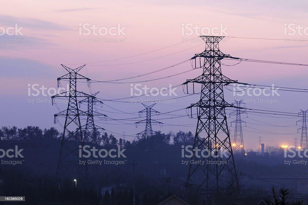 Electricity Pylon - XLarge stock photo