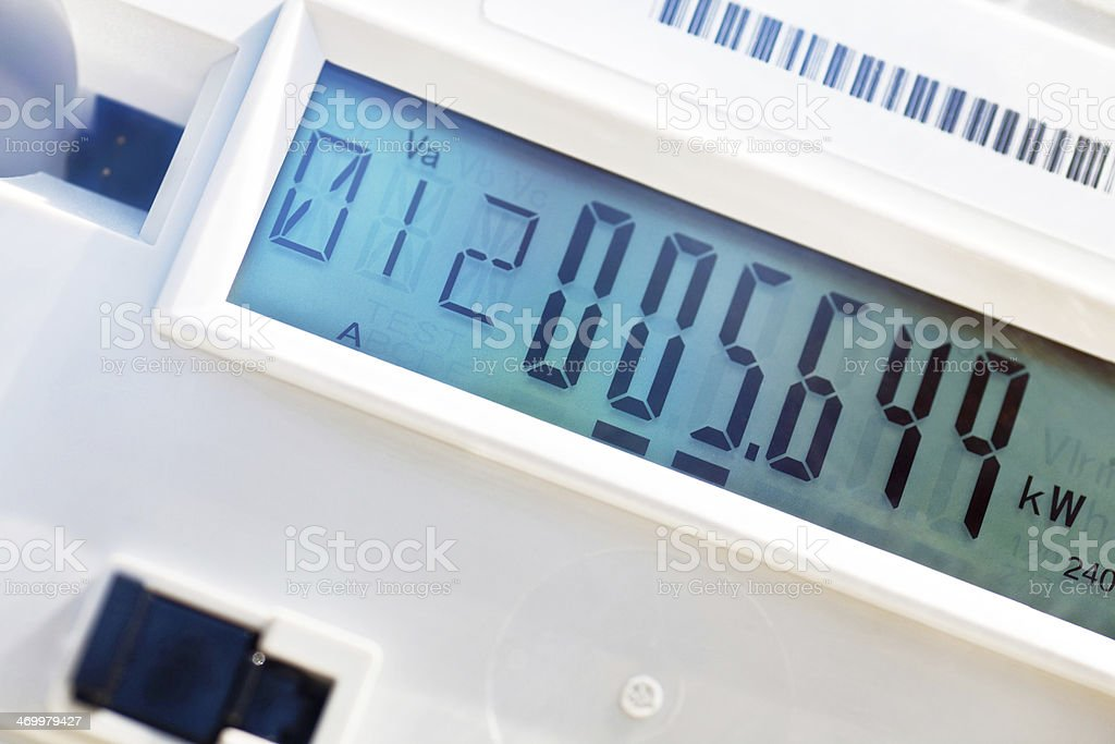 Electricity Smart Meter Detail stock photo