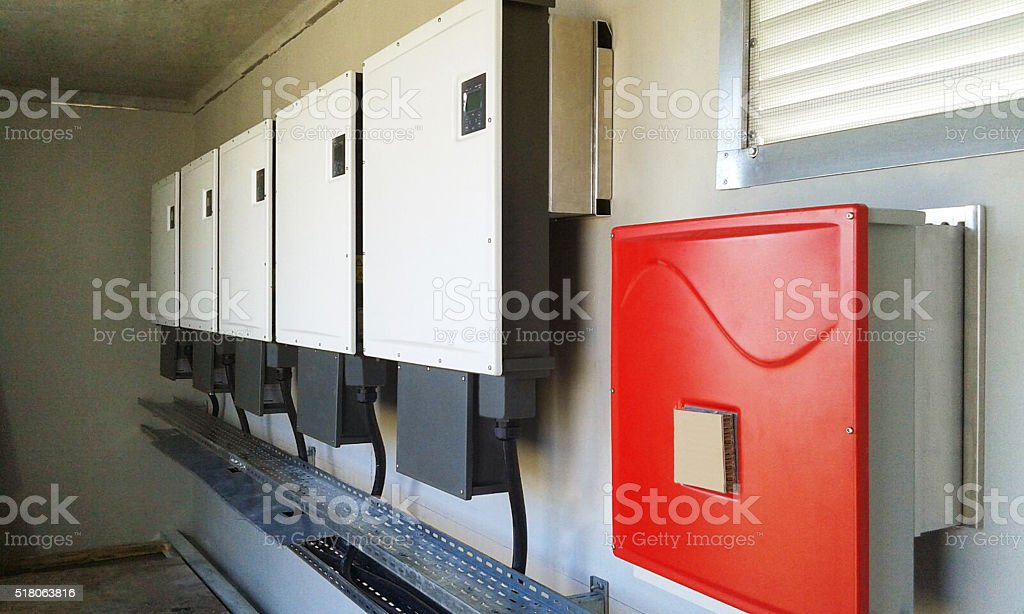 Electricity Storage Compartment stock photo