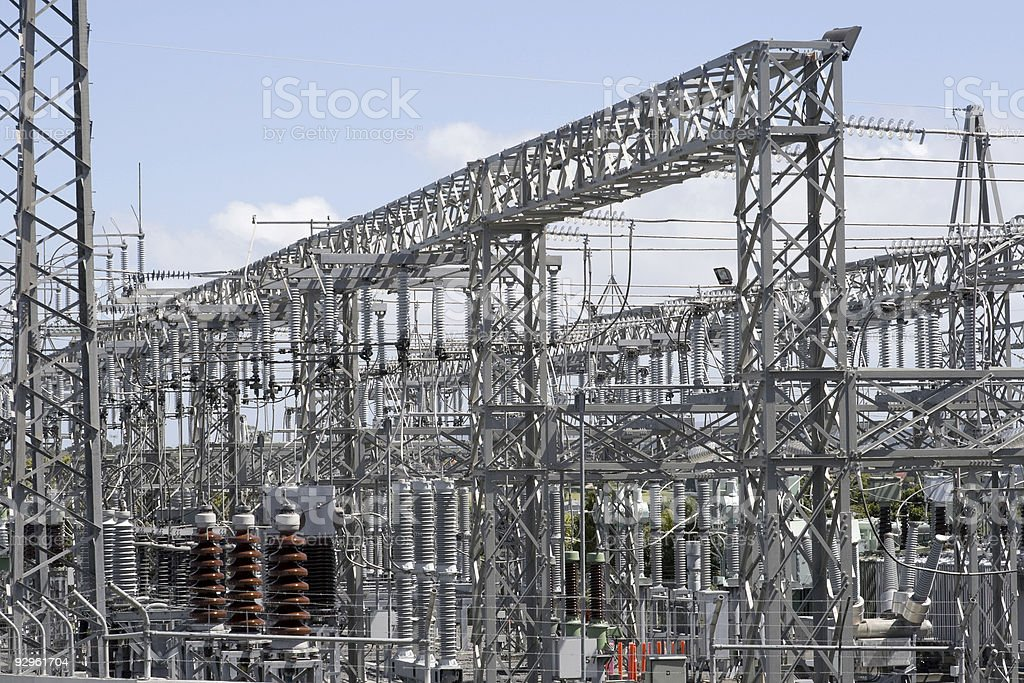 Electricity Sub-Station royalty-free stock photo
