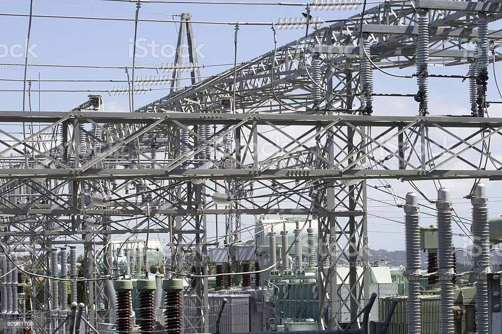 Electricity Sub-Station & Transformers royalty-free stock photo