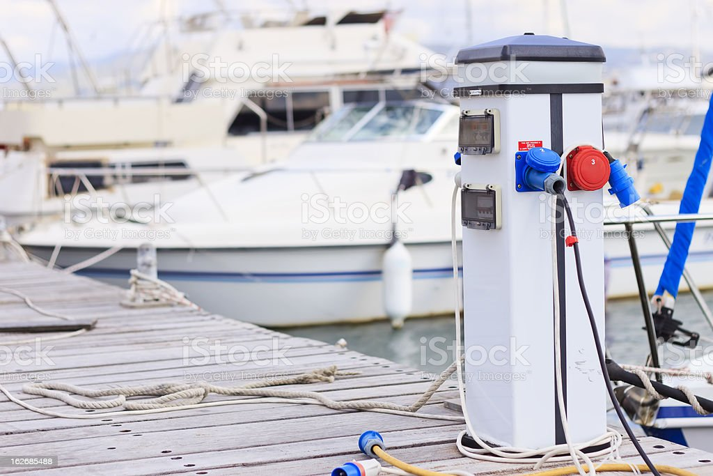 Electricity supply pedestal royalty-free stock photo