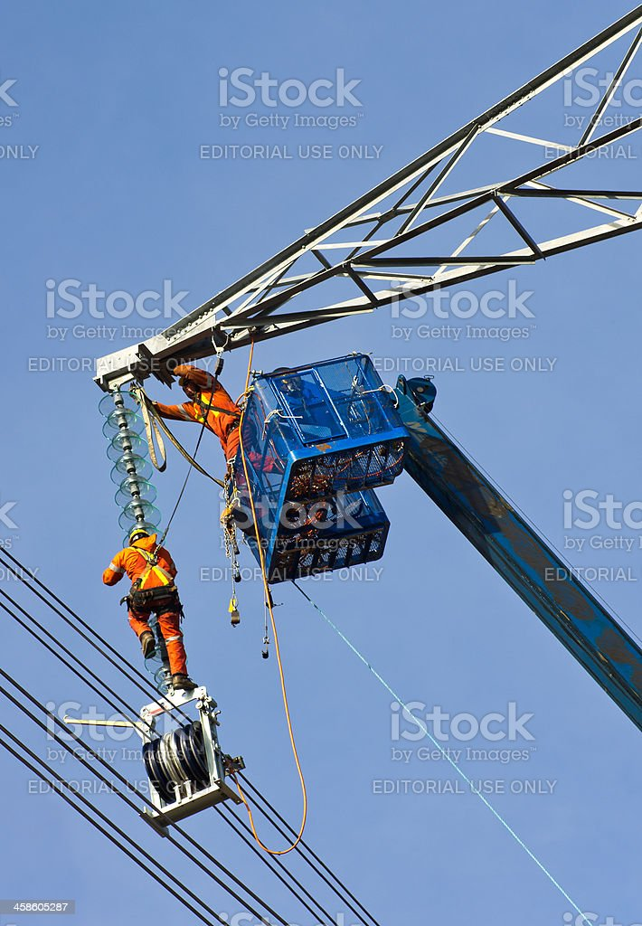 Electricity Tower Construction royalty-free stock photo