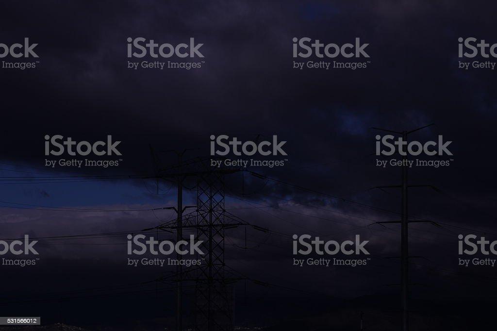 Torres de electricidad stock photo