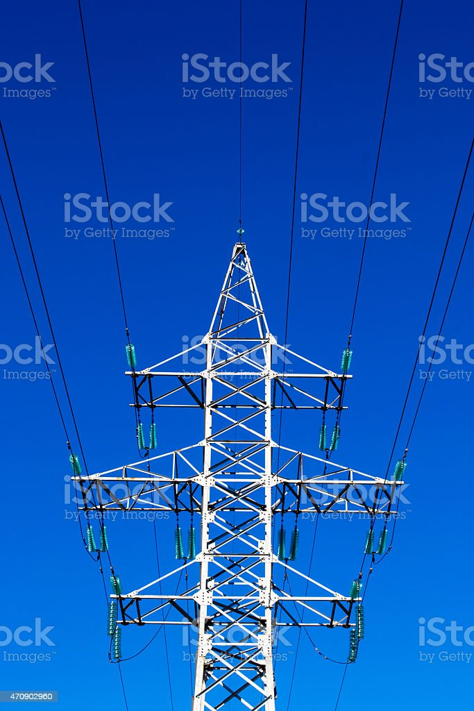 Electricty Mains Pylon stock photo