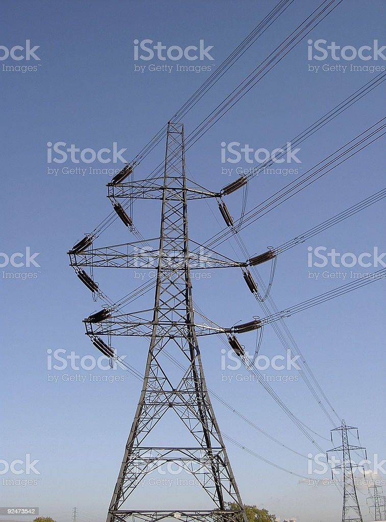 Electricty pylons royalty-free stock photo