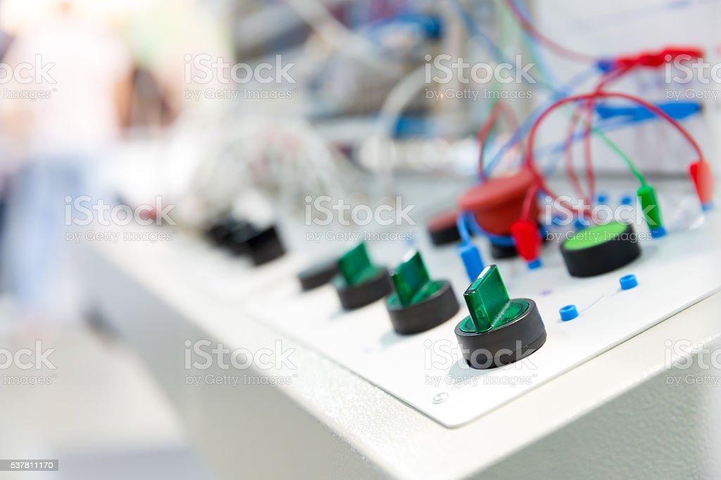 Electro panel stock photo