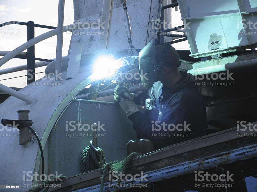 Electro welding royalty-free stock photo